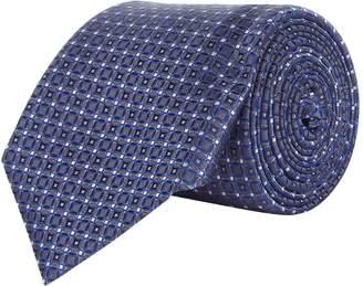 Canali Mini Mosaic Silk Tie