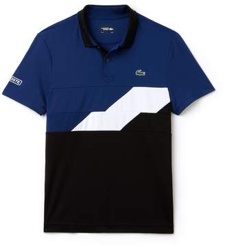 d78773a79e95b9 Lacoste Men s SPORT Colorblock Bands Technical Pique Tennis Polo
