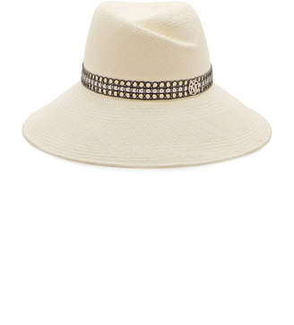 Maison Michel Rose Straw Caning Hat