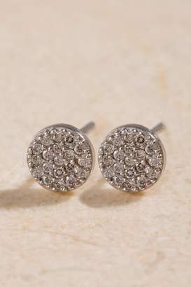 francesca's Elle Sterling Silver Stud Earrings - Silver