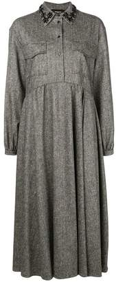 Rochas pointed collar dress