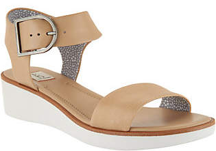 ED Ellen Degeneres Leather Wedge Sandals -Stella
