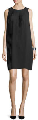 Eileen Fisher Knife-Pleated Knee-Length Dress