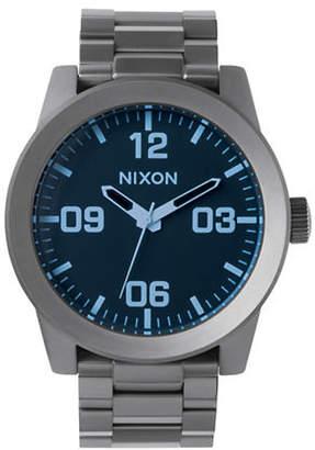 Nixon Corporal SS Metal Stainless Steel Link Bracelet Watch
