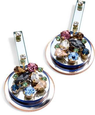 J.Crew Crystal & Lucite(R) Mirror Earrings