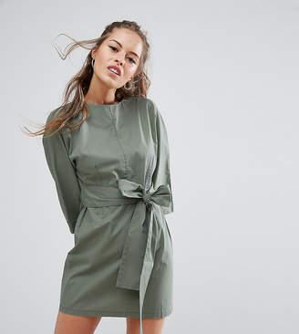 Asos Casual Tie Waist Mini Dress