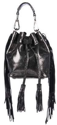 Brian Atwood Mini Fringe Bucket Bag w/ Tags