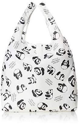 [オーエフエス]ショッピングバッグ パンダ柄 クルクルコンパクトタイプ アイボリー パンダ