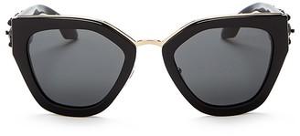 Prada Cat Eye Embellished Sunglasses, 52mm $790 thestylecure.com