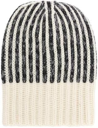 Saint Laurent stripe knit beanie