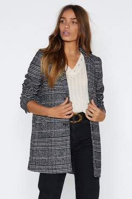 Nasty Gal We Mean Business Check Jacket
