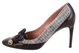 Missoni Leather Tie-Accent Pumps
