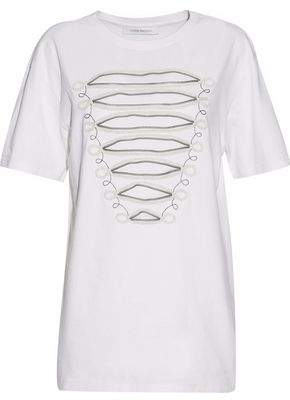 Pierre Balmain Embellished Cotton-Jersey Top