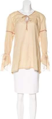 Melissa Odabash Embroidered Long Sleeve Tunic