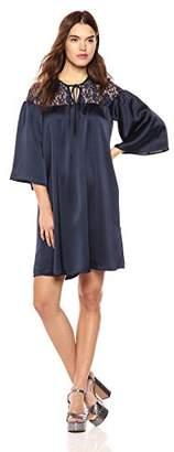 Wild Meadow Women's 3/4 Bell Sleeve Boho Babydoll Dress XL