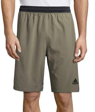 adidas Mens Elastic Waist Workout Shorts
