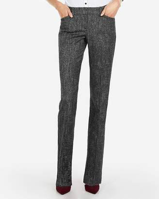 Express Low Rise Speckle Tweed Editor Barely Boot Pant