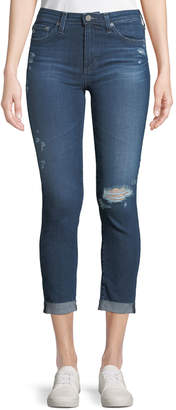 AG Jeans Prima Mid-Rise Skinny Crop Roll-Up Jeans