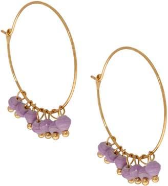 3.1 Phillip Lim Bits Goldtone Melah Hoop Earrings with Dangling Beads