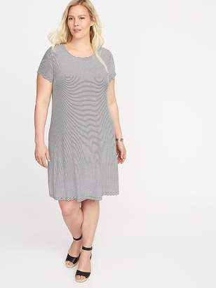 Old Navy Short-Sleeve Plus-Size Jersey-Knit Swing Dress