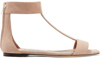 Jimmy Choo Bethel Suede Sandals - Blush