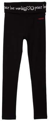 Peace Love World Detail Yoga Pants (Big Girls)