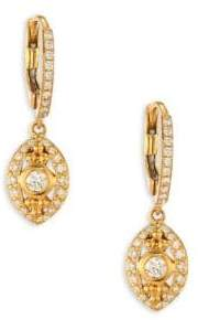 Temple St. Clair Evil Eye Diamond& 18K Yellow Gold Drop Earrings