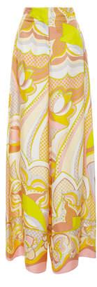 Emilio Pucci High-Rise Printed Silk Wide-Leg Pants