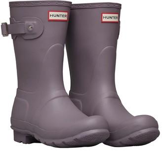 Hunter Womens Short Wellington Boots Thundercloud