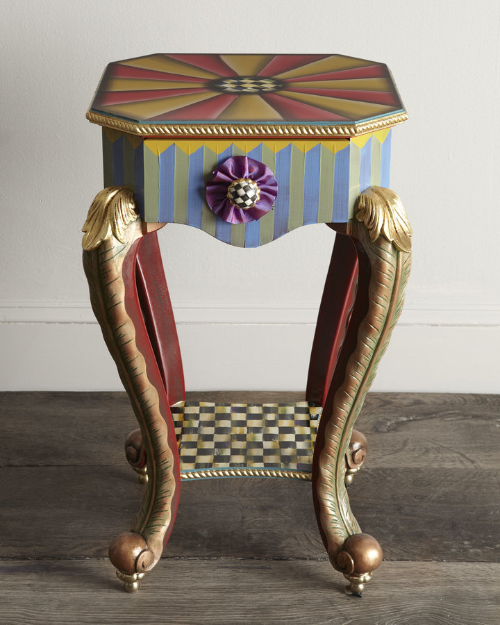Mackenzie Childs MacKenzie-Childs Epaulet Accent Table