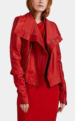 Rick Owens Women's Leather Biker Jacket - Red