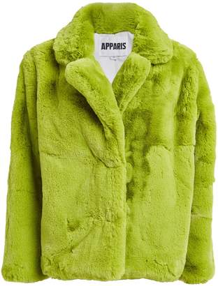 Apparis Manon Neon Faux Fur Coat