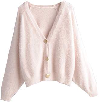 Goodnight Macaroon 'Karyme' Metal Buttons Fluffy Cardigan (4 Colors)