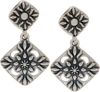 American West Sterling silver Diamond Shape Dangle Earrings