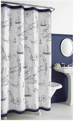 Stall City Scene Cape Island 54 X 78 Shower Curtain Bedding