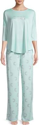Hue 2-Piece Printed Pajama Set