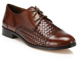 Cole Haan Jagger Woven Leather Oxfords $230 thestylecure.com