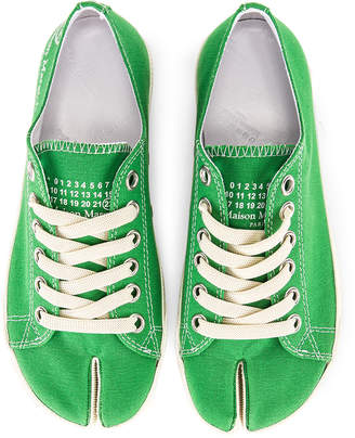 Maison Margiela Low Top Canvas Sneakers in Pepper Green  de3568bd18