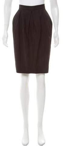 Michael Kors Wool Pencil Skirt
