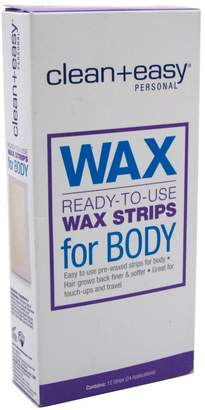 Clean + Easy Clean & Easy Clean+Easy Wax Strips Body 12 Count Ready To Use 24 Apps