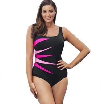 Perman Bikini Set Swimwear, 2018 New Women's Plus Size One Piece Patchwork Push-Up Padded Swimsuit Swimwear
