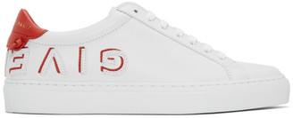 Givenchy White and Red Reverse Urban Knots Sneakers