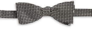 Black & Brown Black Brown Gingham Bow Tie