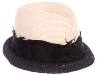 Eugenia Kim Feather-Accented Hat