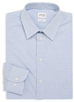 Modern-Fit Check Cotton Dress Shirt $350 thestylecure.com