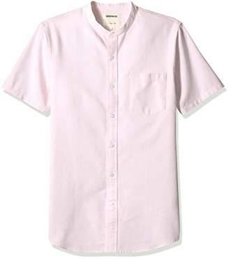Goodthreads Men's Slim-Fit Short-Sleeve Band-Collar Oxford Shirt