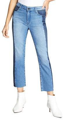 Sanctuary Modern Color-Block Straight Jeans in Noho Arts