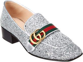 6b29e0ff190 at Gilt · Gucci Peyton Gg Web Glitter Loafer
