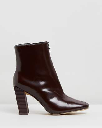 Missguided Feature Heel Zip Boots