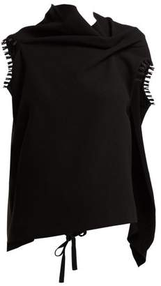 Roland Mouret Eugene Draped Wool Crepe Top - Womens - Black